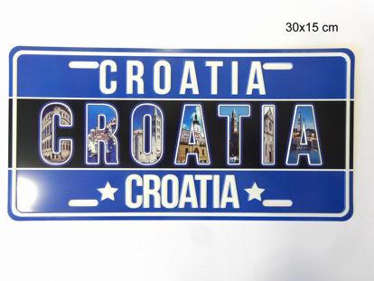 Picture of REGISTRACIJSKA PLOČICA CROATIA 30X15CM